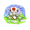 Cartoon: Toad (small) by Trippy Toons tagged super,mario,trippy,toad,mushroom,weed,cannabis,stoner,kiffer,ganja,video,game