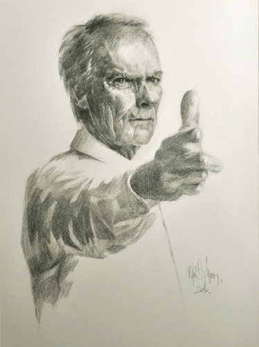 Cartoon: Clint Eastwood (medium) by Jano tagged clint,eastwood,pencil,drawing