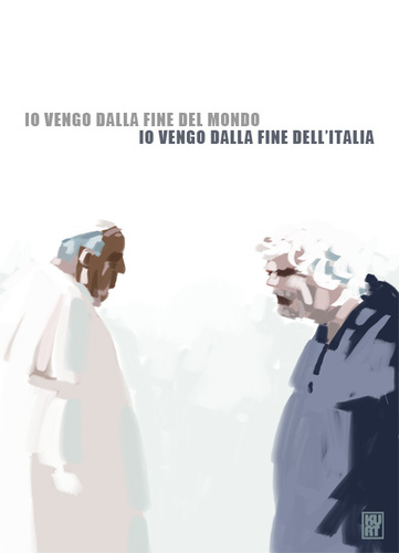 Cartoon: Eminenze grigie (medium) by kurtsatiriko tagged grillo,m5s,bergoglio,papa,francesco