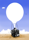 Cartoon: dream (small) by kotbas tagged migration,immigrant,refugee,way,war,peace,idea,dream