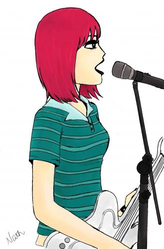 Cartoon Girl Singer