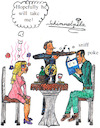 Cartoon: Job Interview Rendezvous (small) by Schimmelpelz-pilz tagged job,interview,offering,work,make,up,date,candle,light,curriculum,vitae,vita,resume,privacy,private,sniff,sniffing,poke,romance,whine,romantic,hook