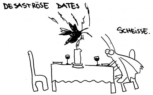 Cartoon: Desaströse Dates. (medium) by puvo tagged date,motte,kerze
