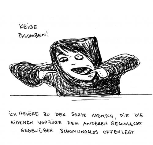 Cartoon: Keige Phlomben. (medium) by puvo tagged plombe,zahn,