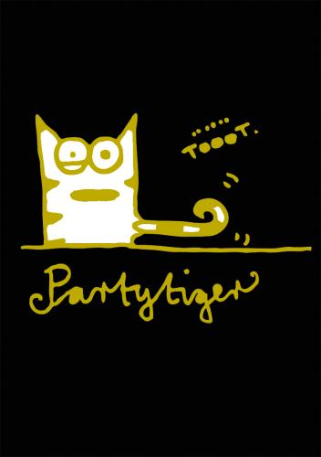 Cartoon: Partytiger (medium) by puvo tagged party,tiger