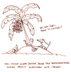 Cartoon: Inselwitz. (small) by puvo tagged insel,island,witz,joke,banana,banane,banenenschale,peel,palme,palm,tree,katze,cat,hund,dog,schiffbruch,wreck,wrack,ship,meer,sea,ocean,ozean,genre,witzgenre,classical,klassiker,klassisch