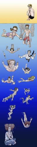 Cartoon: Summer (medium) by javierhammad tagged summer,holidays,beach,swimmers,fun,dive,relax,sea,water,children,summer,holidays,beach,swimmers,fun,dive,relax,sea,water,children