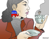 Cartoon: Tea Party (small) by javierhammad tagged tea,party,elections,republicans,obama,politics,rights,usa