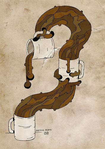 Cartoon: Choc Milk (medium) by arthurporto tagged coffe,mug,chocolate