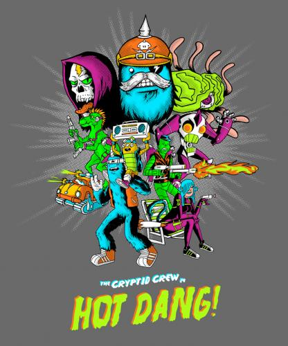 Cartoon: Hot Dang! (medium) by gimetzco tagged threadless,cryptidcrew