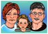 Cartoon: Familienportraits (small) by Egon58 tagged family,portrait,kind