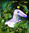 Cartoon: lezard turquoise (small) by Alesko tagged lezard,documentary,draw,alesko