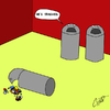 Cartoon: Know your limit! (small) by Thesmilecabinet tagged trashed,silly,cartoons