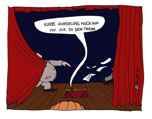 Cartoon: Kurze Anmerkung (medium) by thomasH tagged politik,spd,sommertheater,albig,steinbrueck,kanzlerkandidatur