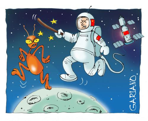Cartoon: space (medium) by massimogariano tagged space,china
