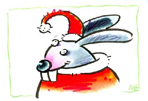 Cartoon: Ostermann (medium) by Alff tagged xmas,christmas,weihnachten,ostern,easter,holidays,seasons