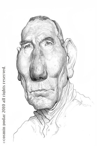 Cartoon: Pete Postlethwaite (medium) by cosminpodar tagged caricature,drawing,illustration,digital,painiting