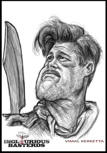 brad pitt caricature. Cartoon: Caricature-Brad Pitt