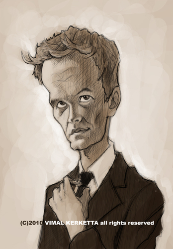 Cartoon: Caricature-Neil Patrick Harris (medium) by vim_kerk tagged caricature,neil,patrick,harris,barney,stinson