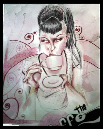 Cartoon: coffe time (medium) by Lucaeffe tagged watercolor