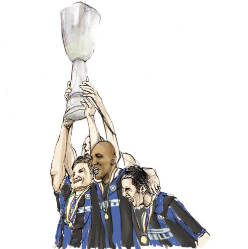 Cartoon: Inter (medium) by Lucaeffe tagged inter,coppa,cup,uefa,illustration,lucaeffe,luca,effe