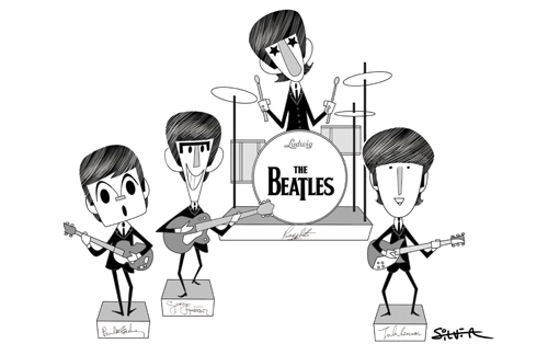 The Beatles By Stephen Silver Famous People Cartoon Toonpool