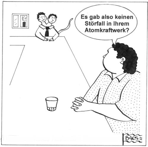 Cartoon: Fragen kann man ja mal (medium) by BAES tagged atomkraftwerk,störfall