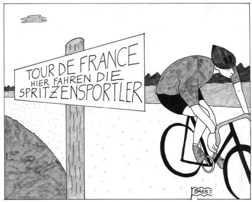 Cartoon: Tortur de France (medium) by BAES tagged tour,de,france,doping,radrennen,radfahrer,sport