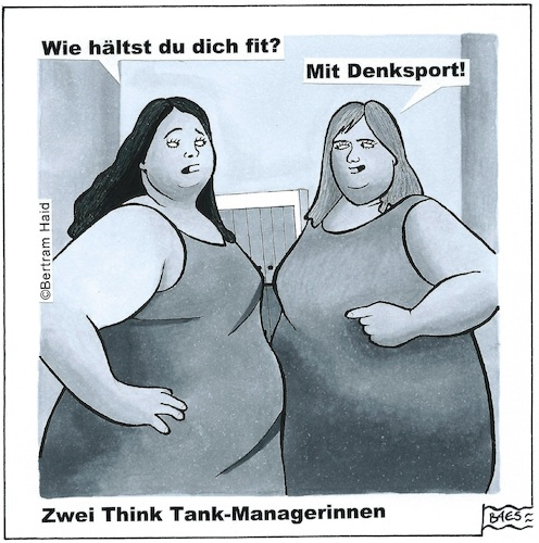 Cartoon: Zwei Think-Thank Managerinnen (medium) by BAES tagged think,thank,manager,frauen,dick,sport,business,think,thank,manager,frauen,dick,sport,business