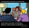 Cartoon: Verhaltensfinanzierung (small) by perugino tagged investment,banking