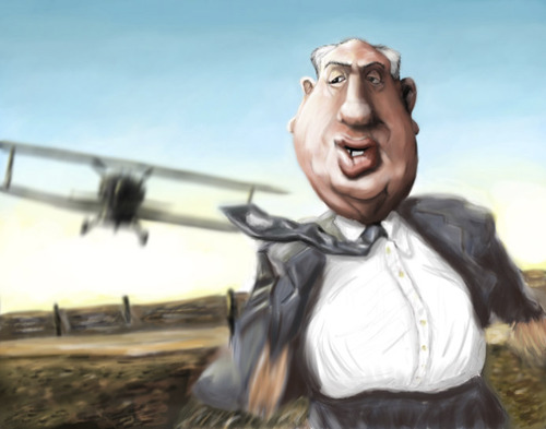 Cartoon: Alfred Hitchcock 2 (medium) by doodleart tagged alfred,hitchcock,movies,celebrity,director