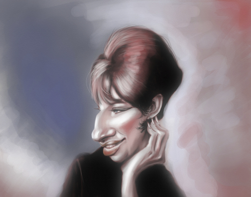 Cartoon: Barbara Streisand (medium) by doodleart tagged celebrity,actress,singer