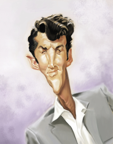 Dean Martin By Doodleart Famous People Cartoon Toonpool