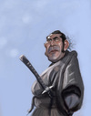 Cartoon: Toshiro Mifune (small) by doodleart tagged caricature,celebrity,japanese