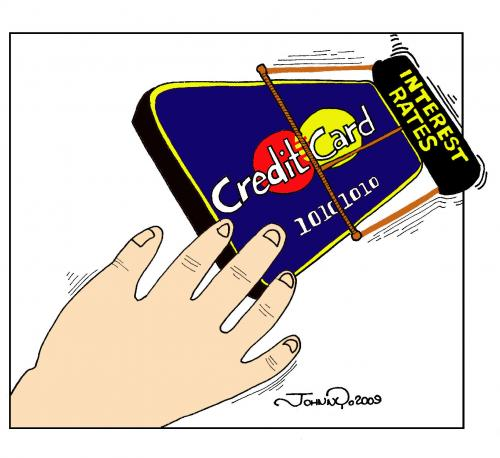 credit card trap by johnnycartoons business cartoon toonpool
