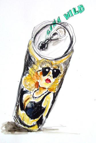 Cartoon: BIER mit Gina (medium) by wonderbra tagged bier,gina,wild