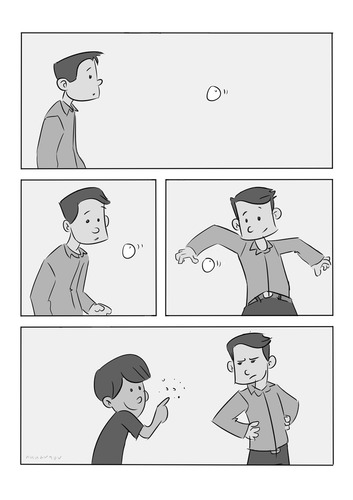 Cartoon: Bubble (medium) by anuarmono tagged anuarmono,comedy,bubble