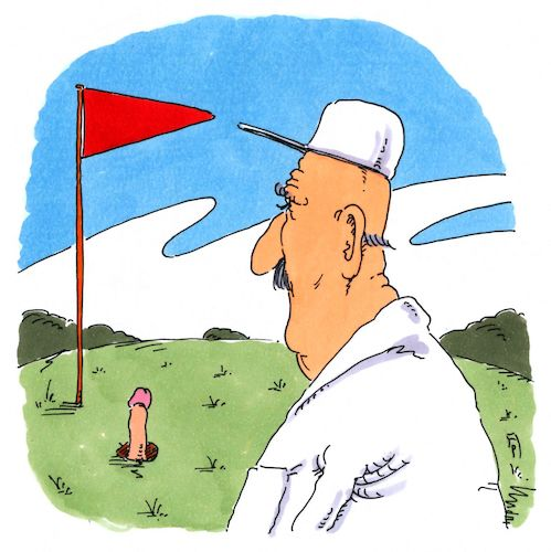 Cartoon: besetzt (medium) by Andreas Prüstel tagged golf,golfer,golfplatzloch,cartoon,karikatur,andreas,pruestel,golf,golfer,golfplatzloch,cartoon,karikatur,andreas,pruestel