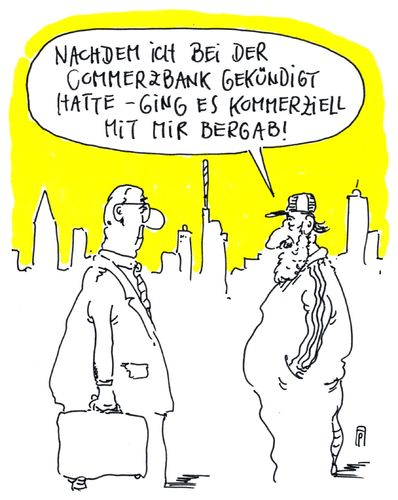 Cartoon: commerzbank (medium) by Andreas Prüstel tagged cumexdeals,steuertricks,aktiendeals,commerzbank,kommerziell,kündigung,cartoon,karikatur,andreas,pruestel,commerzbank,aktiendeals,steuertricks,cumexdeals,kommerziell,kündigung,cartoon,karikatur,andreas,pruestel