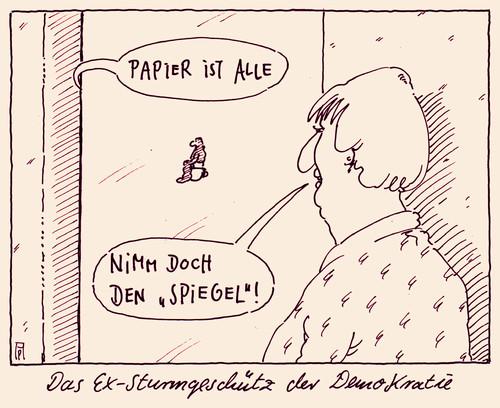 Der spiegel by andreas pr stel media culture cartoon for Spiegel cartoon