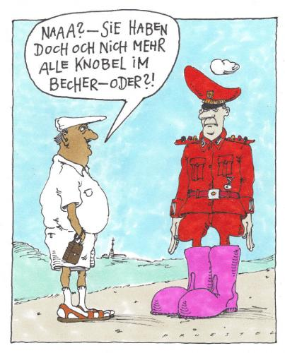 Cartoon: Knobelbecher (medium) by Andreas Prüstel tagged militär,soldat,stiefel,schwachsinn