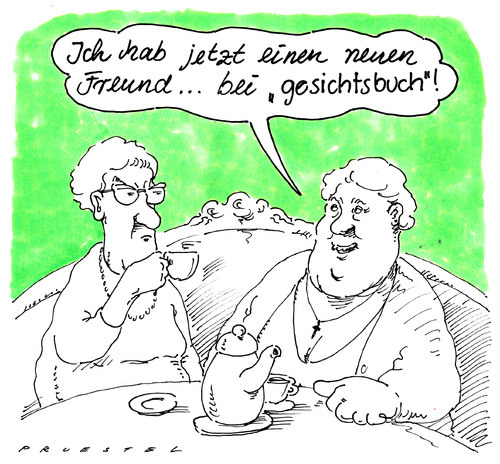 Neuer freund by andreas pr stel media culture cartoon for Barbara karlich neuer freund