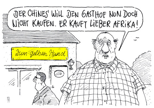 Cartoon: nichtkauf (medium) by Andreas Prüstel tagged china,afrika,expansionspolitik,wirtschaft,kredite,verschuldung,cartoon,karikatur,andreas,pruestel,china,afrika,expansionspolitik,wirtschaft,kredite,verschuldung,cartoon,karikatur,andreas,pruestel