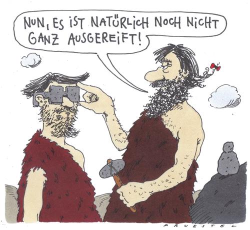Karikatur Optiker
