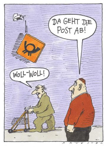 Cartoon: Post (medium) by Andreas Prüstel tagged post