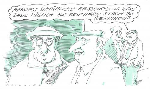 Cartoon: ressourcen (medium) by Andreas Prüstel tagged senioren,alternativenergie