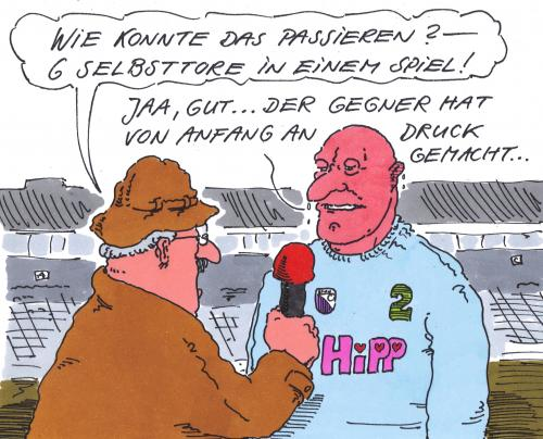 Selbsttore By Andreas Prustel Sports Cartoon Toonpool