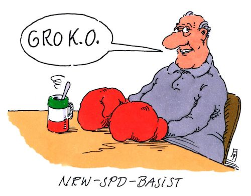 Cartoon: spd-basis (medium) by Andreas Prüstel tagged spd,groko,parteibasis,nrw,boxen,ko,cartoon,karikatur,andreas,pruestel,spd,groko,parteibasis,nrw,boxen,ko,cartoon,karikatur,andreas,pruestel