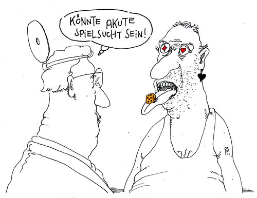 Spielsucht Cartoon