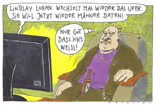 Cartoon: wichtig (medium) by Andreas Prüstel tagged klatsch,und,tratsch,vips,lindsay,lohan,klatsch,tratsch,lindsay lohan,tv,unterhaltung,news,promis,prominente,lindsay,lohan